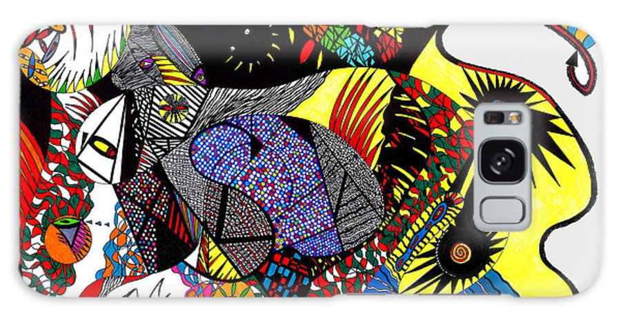 Psychedelic Galaxy Case featuring the painting Evil Born by Safak Tulga