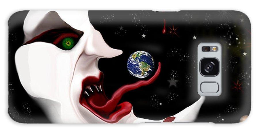Moon Galaxy S8 Case featuring the digital art Evil Moon by Ruben Flanagan