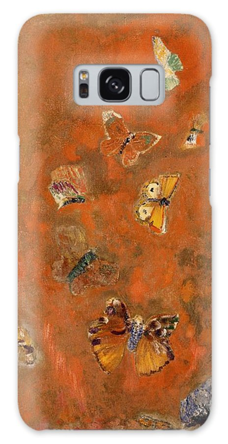 Evocation Galaxy S8 Case featuring the painting Evocation Of Butterflies by Odilon Redon