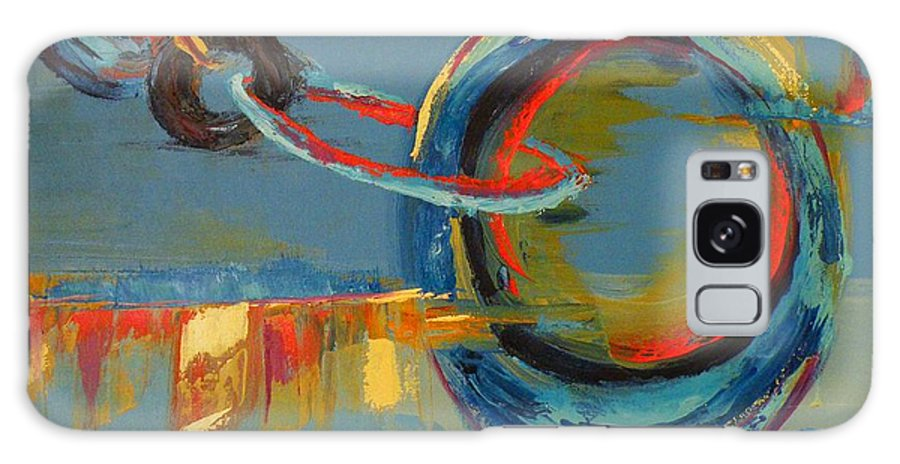 Abstract Painting Galaxy Case featuring the painting Evolving Sense by Patricia Awapara