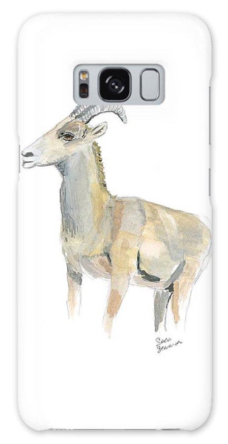 Bighorn Sheep Galaxy S8 Case featuring the painting Ewe by Sara Stevenson