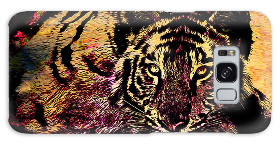 Tiger Galaxy S8 Case featuring the mixed media Exalted Beauty by Catherine Harms