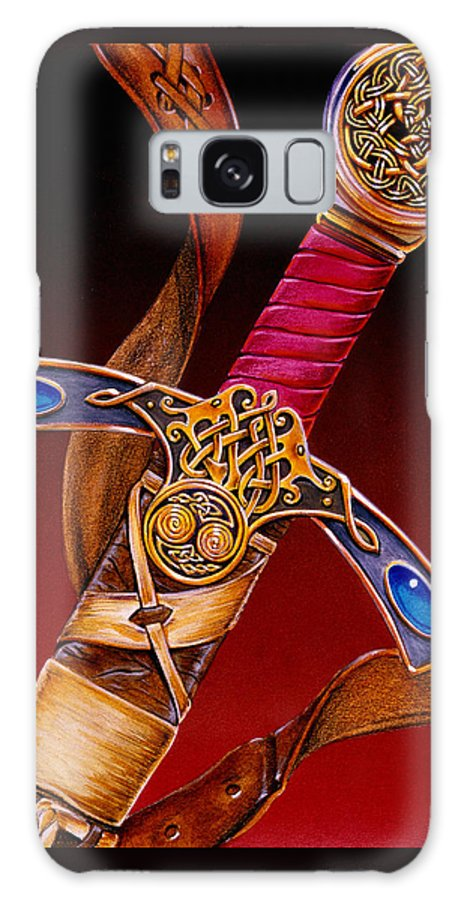 Swords Galaxy Case featuring the mixed media Excalibur by Melissa A Benson