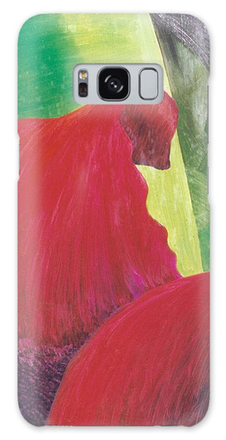 Red Galaxy Case featuring the painting Expectations by Christina Rahm Galanis