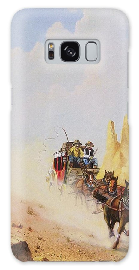Western Galaxy S8 Case featuring the painting Express Run by Don Griffiths