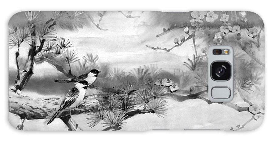 Chinese Painting Galaxy S8 Case featuring the painting Expressions Of Spring by Eileen Fong
