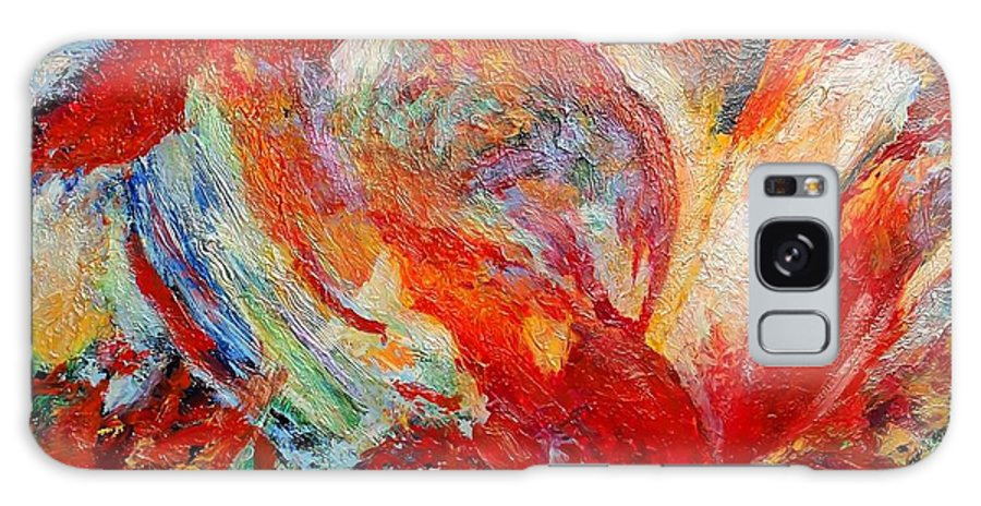 Abstract Galaxy Case featuring the painting Exuberance by Michael Durst