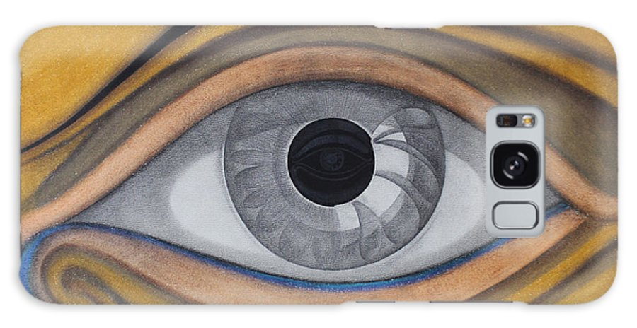 Eye Galaxy S8 Case featuring the painting Eye by Andre Pinheiro