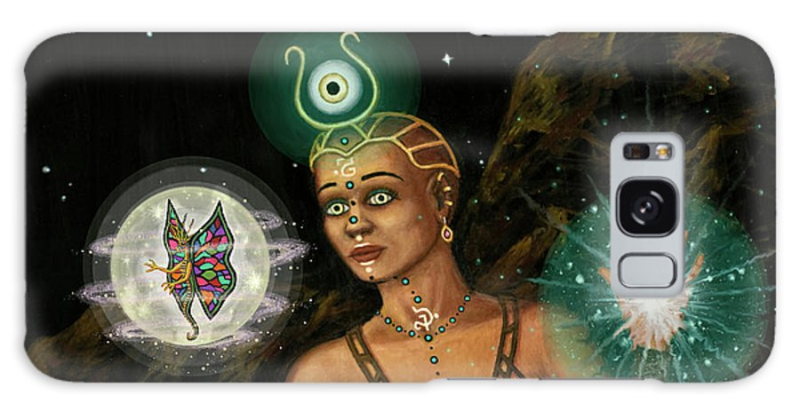Fantasy Galaxy Case featuring the digital art Eye of The Dragon 2 by Roz Eve