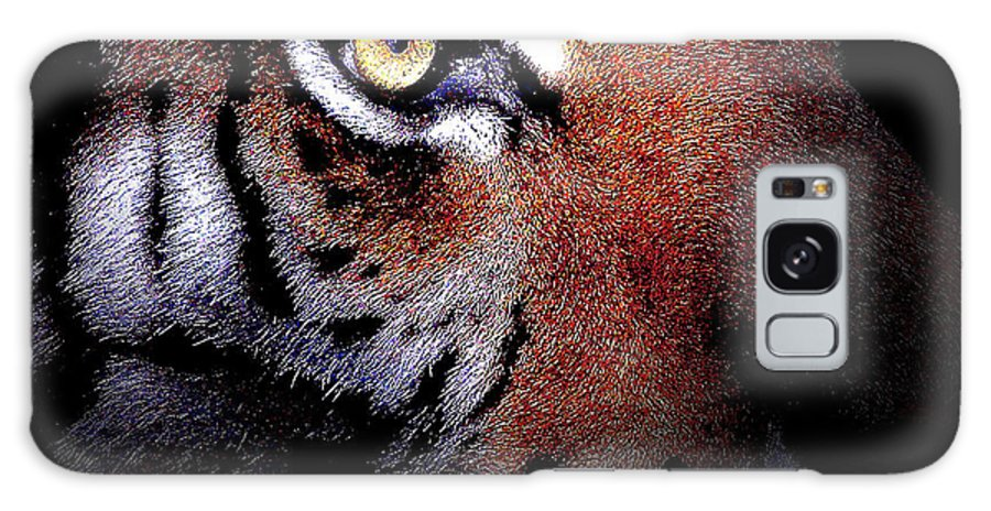 Tiger Galaxy S8 Case featuring the digital art Eye Of The Tiger by Wingsdomain Art and Photography