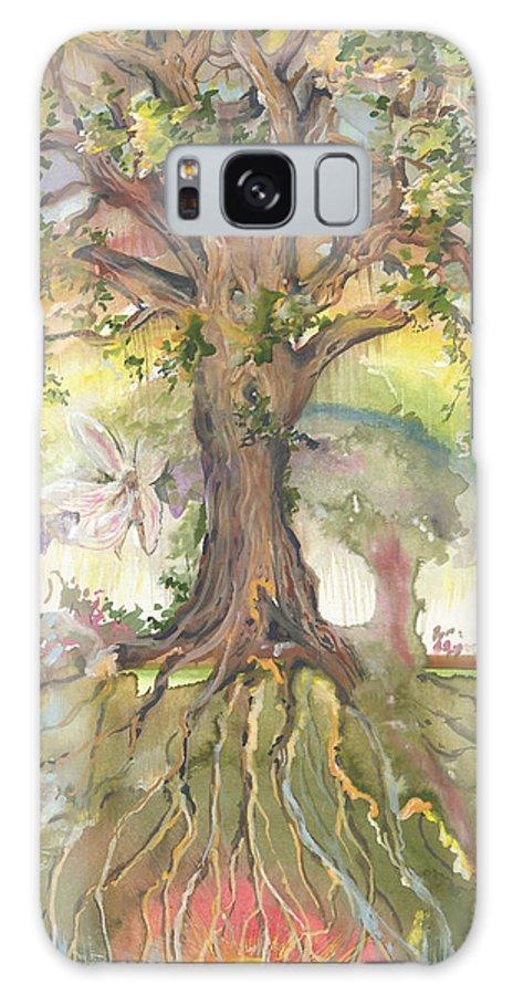 Eye Galaxy S8 Case featuring the painting Eye See My Healing Tree by Sheri Jo Posselt