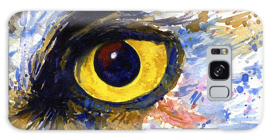Owls Galaxy S8 Case featuring the painting Eyes Of Owl's No.6 by John D Benson
