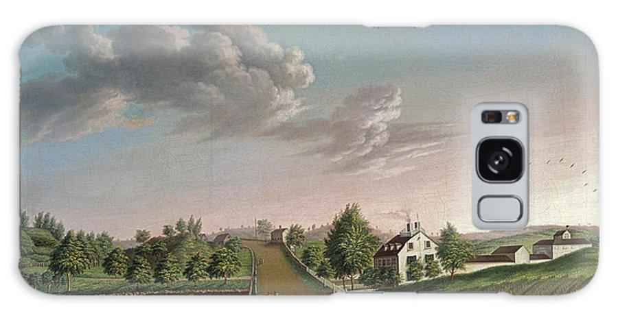 Landscape Galaxy S8 Case featuring the painting Ezekiel Hersey Derby Farm by Michele Felice Corne