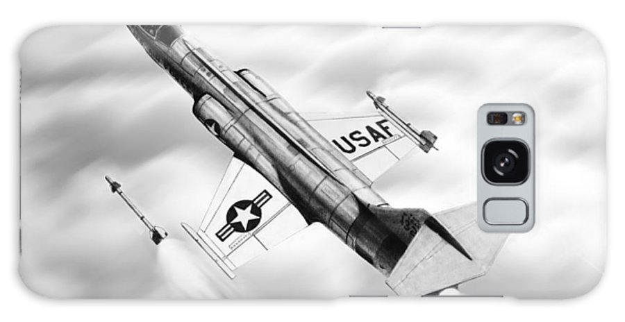 Aircraft Galaxy S8 Case featuring the drawing F-104a Starfighter by Douglas Castleman