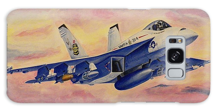 Jets Galaxy S8 Case featuring the painting F/a-18 Fighter by Jim Reale