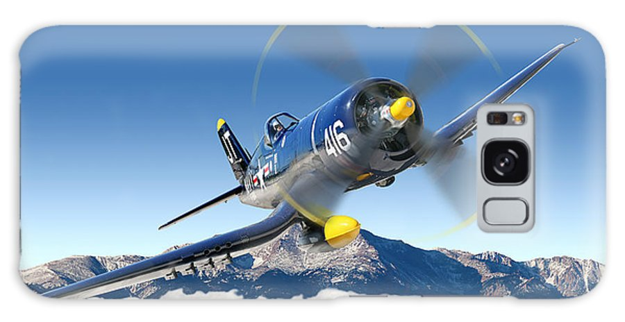 F4-u Corsair Galaxy Case featuring the photograph F4-u Corsair by Larry McManus