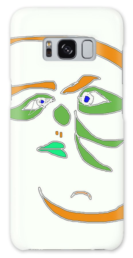 Collage Galaxy S8 Case featuring the digital art Face 1 On White by John Vincent Palozzi