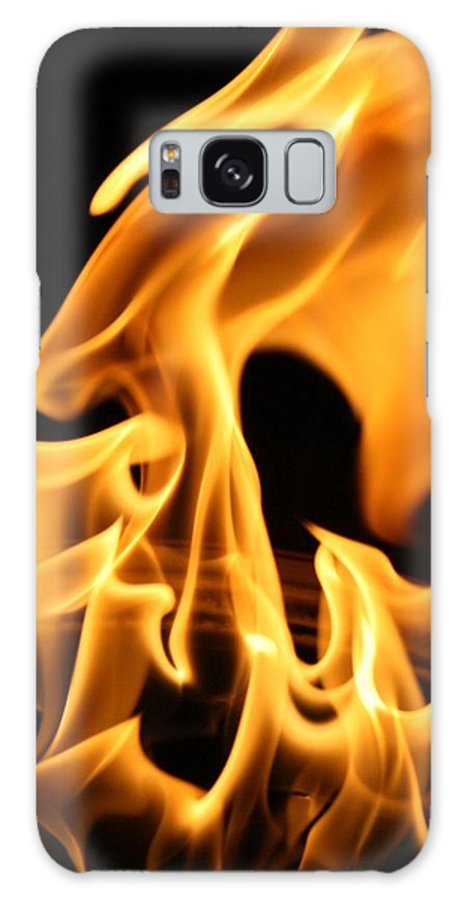 Fire Galaxy Case featuring the photograph Face In The Fire by Joshua Sunday