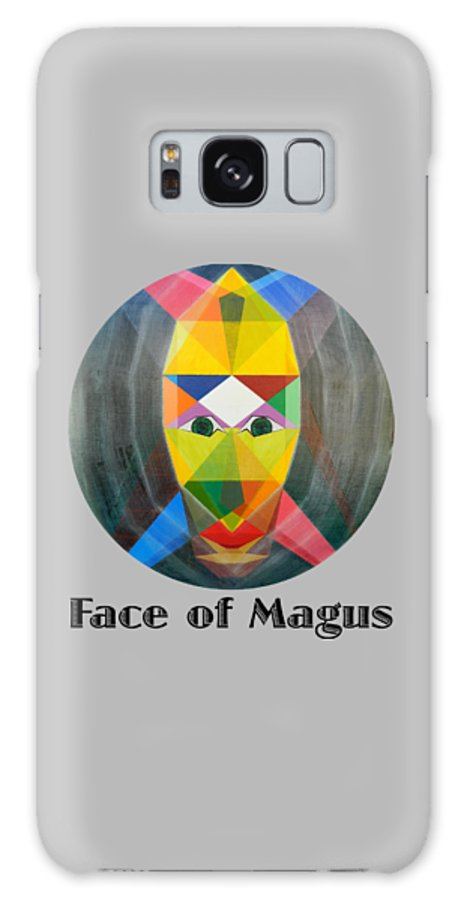 Painting Galaxy Case featuring the painting Face of Magus text by Michael Bellon