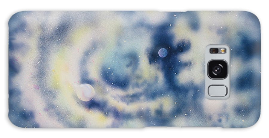 Blue Galaxy S8 Case featuring the painting Faces Of Creation by Diane Ellingham