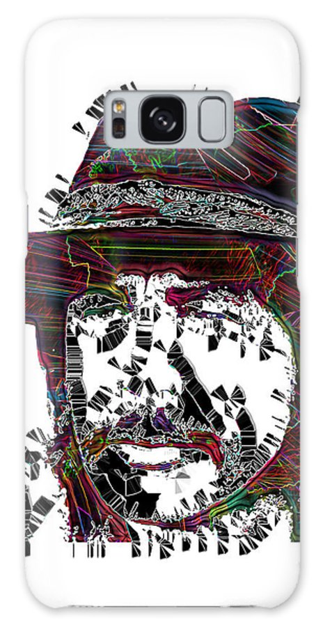 Pop Art Galaxy S8 Case featuring the digital art Faces Of Life 18 Charles Bronson by Dalon Ryan