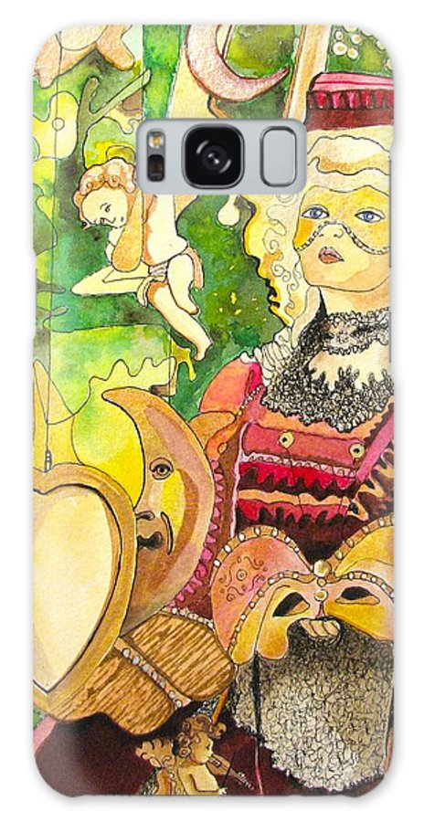 Fantacy Galaxy Case featuring the painting Facing Dreams by Patricia Arroyo