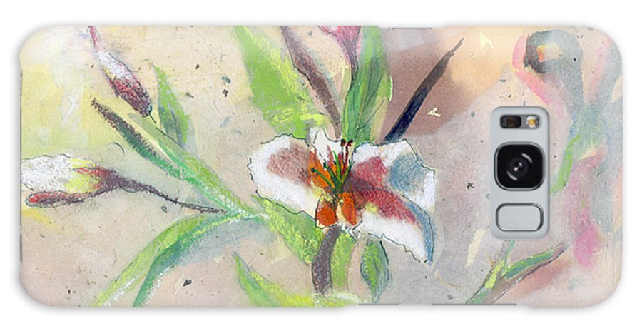 Flower Galaxy S8 Case featuring the painting Faded Lilies by Arline Wagner