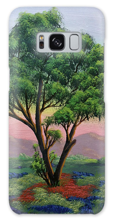 Tree Galaxy S8 Case featuring the painting Fading Day by Dawn Blair