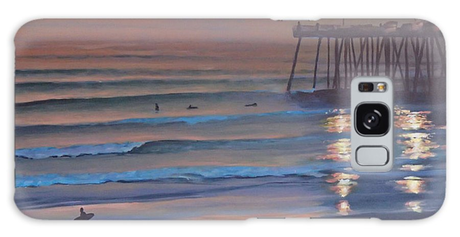 Beach Galaxy Case featuring the painting Fading Light by Philip Fleischer