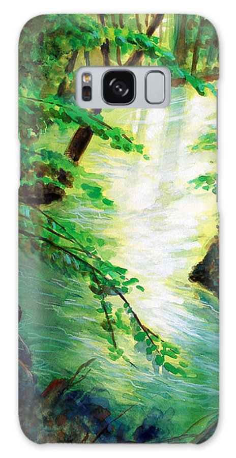Forest Galaxy S8 Case featuring the painting Fairfax Summer by Ken Meyer