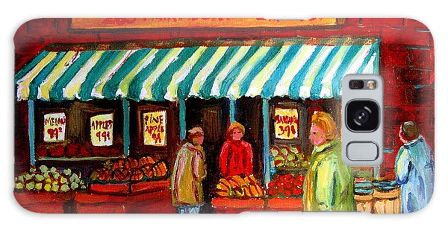 Fairmount Fruits And Vegetables Galaxy S8 Case featuring the painting Fairmount Fruit And Vegetables by Carole Spandau