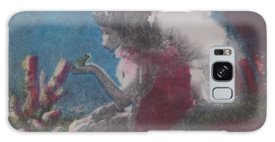 Fairy Galaxy Case featuring the mixed media Fairy by Emily Young