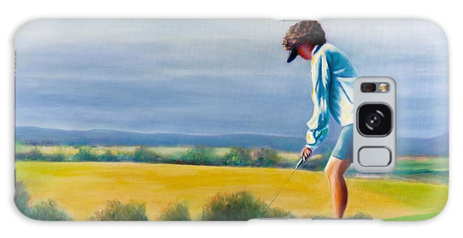 Golfer Galaxy S8 Case featuring the painting Fairy Golf Mother by Shannon Grissom