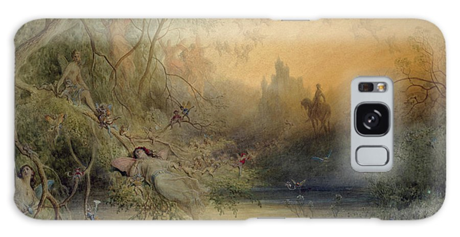 Fairy Land Galaxy S8 Case featuring the painting Fairy Land by Gustave Dore