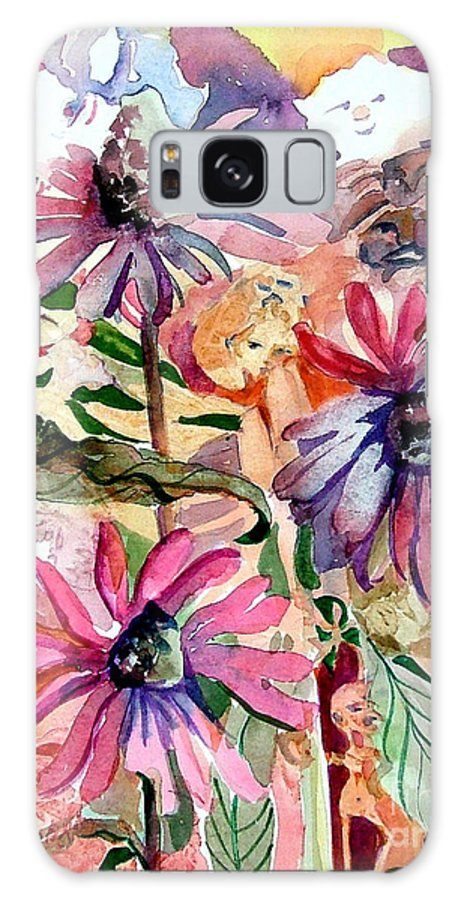 Daisy Galaxy S8 Case featuring the painting Fairy Land by Mindy Newman