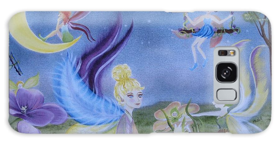 Fairies Galaxy S8 Case featuring the painting Fairy Play by RJ McNall