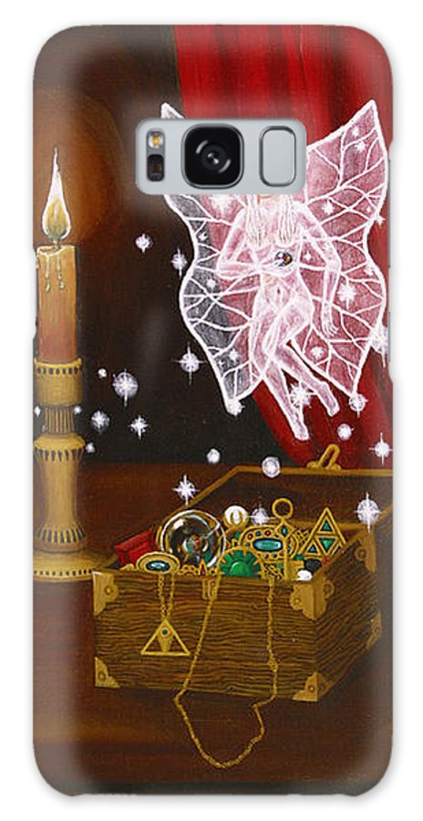 Fairy Galaxy Case featuring the painting Fairy Treasure by Roz Eve