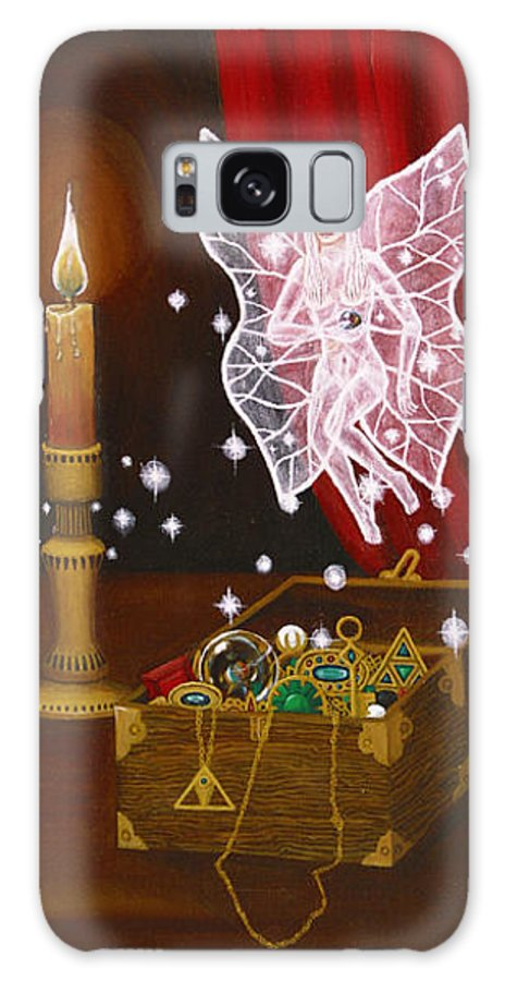 Fairy Galaxy S8 Case featuring the painting Fairy Treasure by Roz Eve