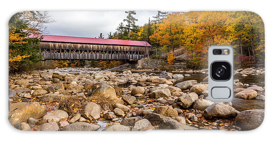 Albany Bridge Galaxy S8 Case featuring the photograph Fall At Albany Covered Bridge by Scott Patterson