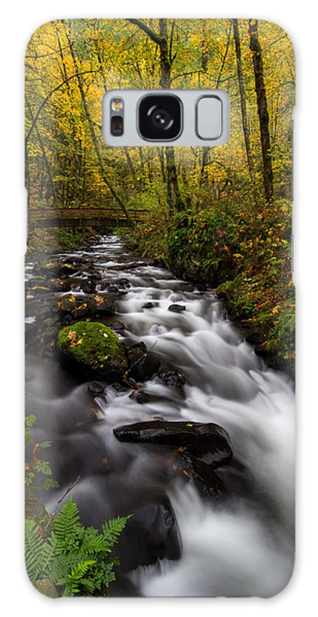 Fall Galaxy S8 Case featuring the photograph Fall At Bridal Veil Creek by Sandy Wilson