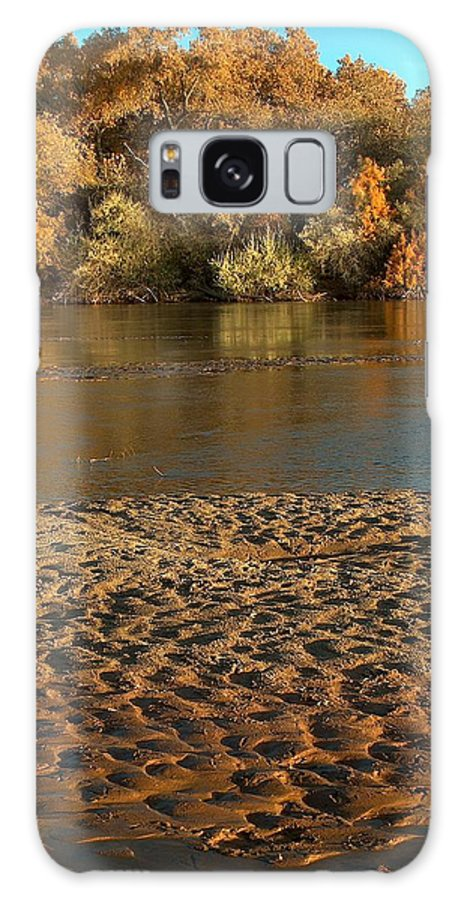 Fall Colors Galaxy Case featuring the photograph Fall Colors On The Rio Grande 1 by Tim McCarthy