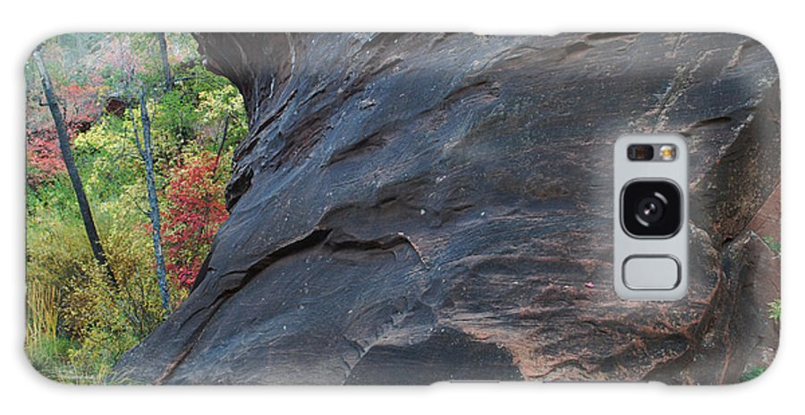Photo Galaxy S8 Case featuring the photograph Fall Colors Peek Around Mountain Horizontal Number 1 by Heather Kirk