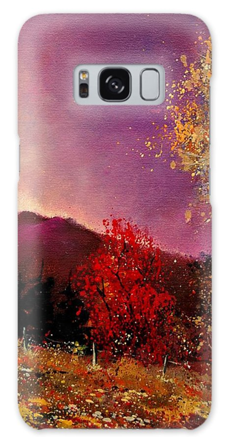 River Galaxy Case featuring the painting Fall Colors by Pol Ledent