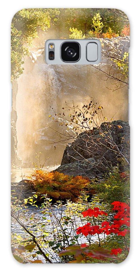 Fall Galaxy S8 Case featuring the photograph Fall Falls Mist Dead River Falls Marquette Mi by Michael Bessler