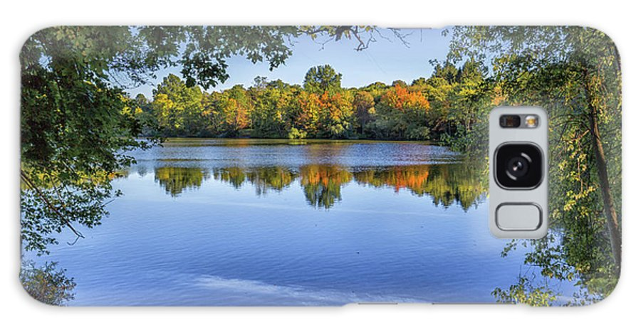 Fall Foliage At Turners Pond In Milton Massachusetts Galaxy S8 Case featuring the photograph Fall Foliage At Turners Pond In Milton Massachusetts by Brian MacLean