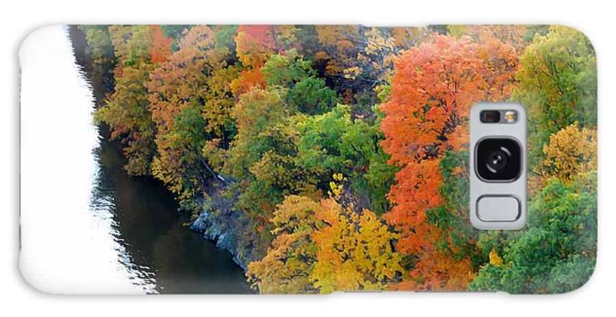 Fall Foliage In Hudson River Galaxy S8 Case featuring the photograph Fall Foliage In Hudson River 1 by Jeelan Clark