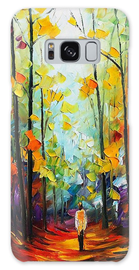 Afremov Galaxy S8 Case featuring the painting Fall Forest by Leonid Afremov