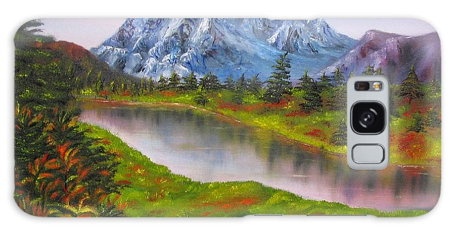 Fall Galaxy S8 Case featuring the painting Fall In Mountains Landscape Oil Painting by Natalja Picugina
