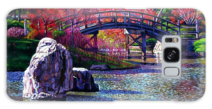 Garden Galaxy Case featuring the painting Fall In The Garden by John Lautermilch