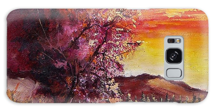 Autumn Galaxy Case featuring the painting Fall In Villers by Pol Ledent